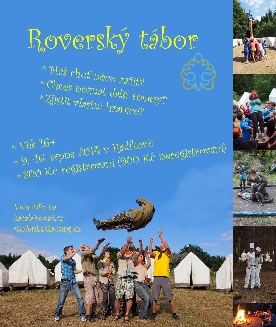 Plakat roverský tábor 2014